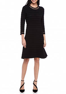 Spense Rib Knit Shift Dress
