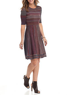 Spense Striped Sweater Dress