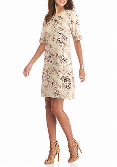 Spense Animal Printed Shift Dress