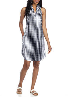 Spense Gingham Check Shirt Dress