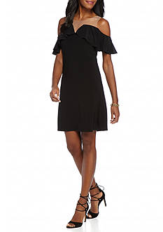 MSK Illusion Neckline Jersey Dress