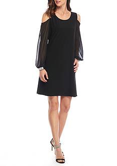 MSK Sheer Cold Shoulder Sleeve Dress