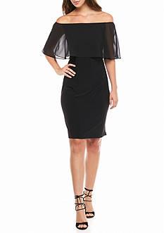 MSK Off the Shoulder Sheath Dress