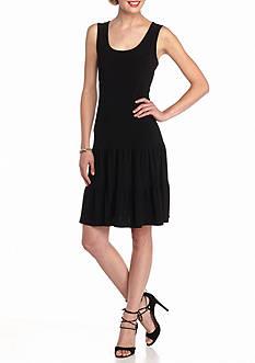 MSK Sleeveless Tiered Dress