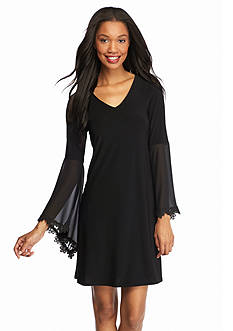 MSK Bell Sleeve Shift Dress