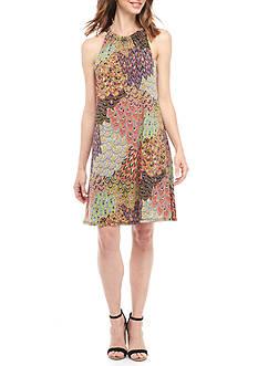 MSK Printed Halter Dress