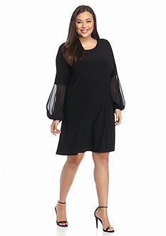 MSK Plus Size Jersey Trapeze Dress