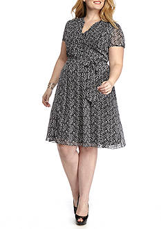 MSK Ditsy Print Shirt Dress