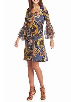 MSK Paisley Printed Shift Dress