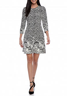 MSK Printed Shift Dress