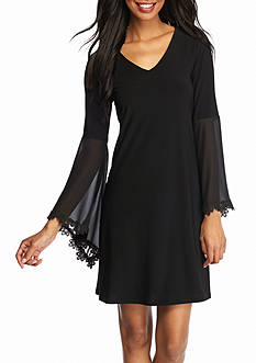 MSK Bell-Sleeve Shift Dress