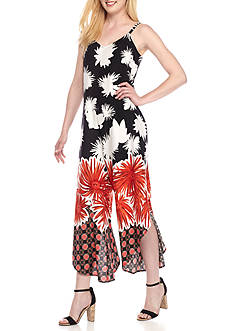 Prelude Tropical Print Gaucho Jumpsuit