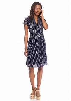 MSK Polka Dot A-Line Dress