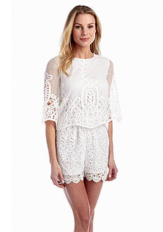 muse Allover Lace Romper