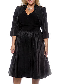 SL Fashions Plus Size Bolero Party Dress