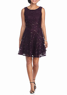 Speechless Allover Lace Skater Dress