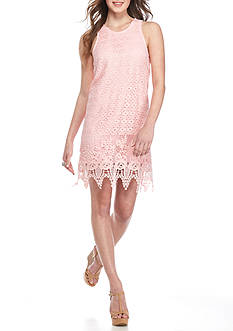 Speechless Tank Crochet Scallop Dress