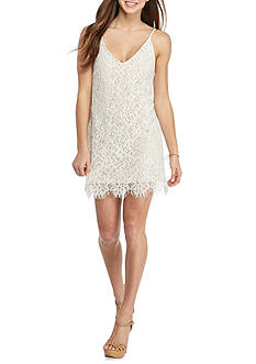 Speechless White Lace Slip Dress