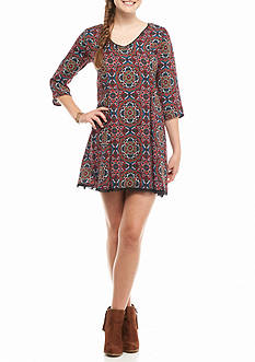 Speechless Printed Swing Dress