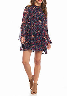 Speechless Printed Chiffon Dress