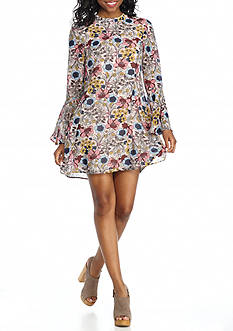 Speechless Floral Print Swing Dress