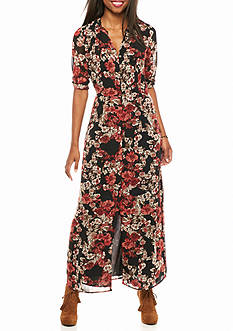 Speechless Floral Print Maxi Dress