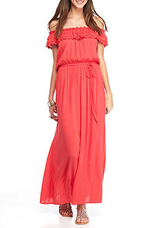Speechless Off The Shoulder Maxi Dress