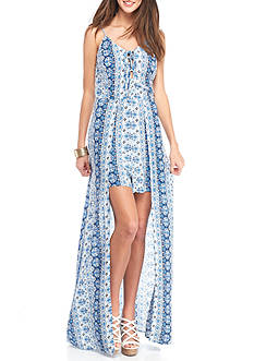 Speechless Maxi Romper Lace Up