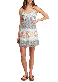 Speechless Printed Lingerie Tiered Tank Dress