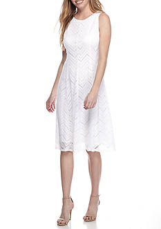 Tiana B Lace Fit and Flare Dress