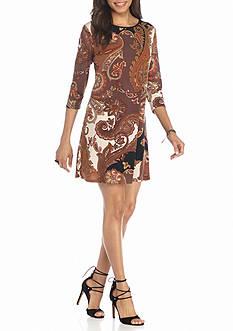 Tiana B Paisley Printed Shift Dress