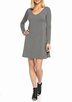 Tiana B V-Neck Trapeze Dress