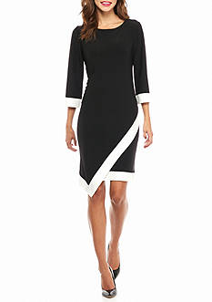 Tiana B Colorblock Shift Dress