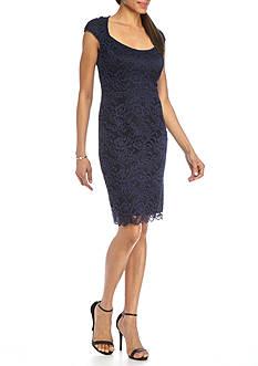 Tiana B Lace Cutout Back Sheath Dress