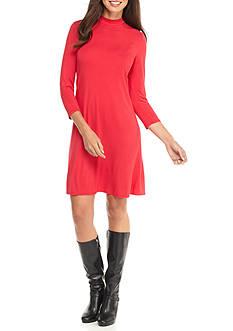 Tiana B Mock Neck Trapeze Dress