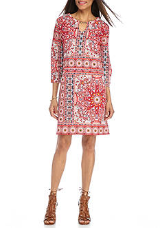 Tiana B Printed Scuba Shift Dress