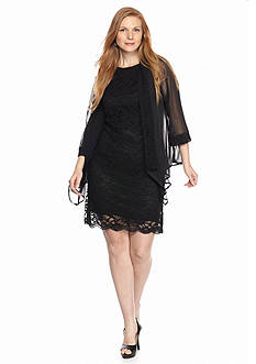 Tiana B Plus Size Lace Jacket Dress