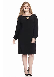 Tiana B Plus Size Shift Dress with Sequin