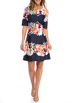Tiana B Floral Fit and Flare Dress