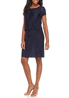 Tiana B Popover Pleated Dress
