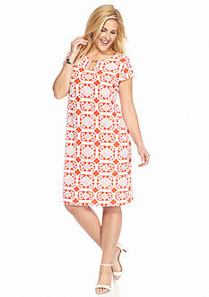 Tiana B Plus Size Printed Shift Dress