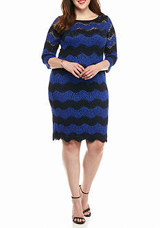 Tiana B Plus Size Lace Shift Dress