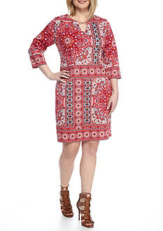 Tiana B Plus Size Printed Scuba Shift Dress