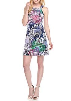 Tiana B Circle Print Trapeze Dress