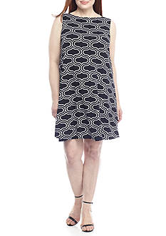 Tiana B Plus Size Printed Trapeze Dress