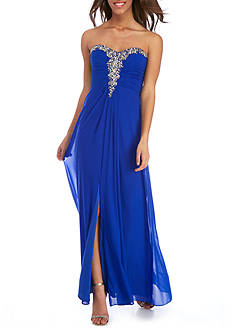Blondie Nites Strapless Beaded Gown