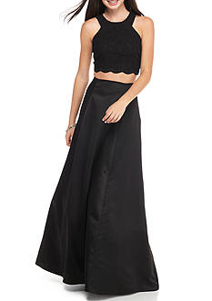 Blondie Nites Two-Piece Lace and Satin Ballgown