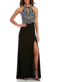 Blondie Nites Long Beaded Gown