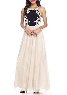 Blondie Nites Embroidered Bodice Ballgown