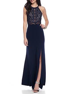 Morgan & Co Halter Gown